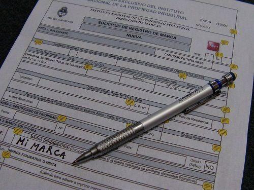 Formulario para registrar marca nueva en Argentina