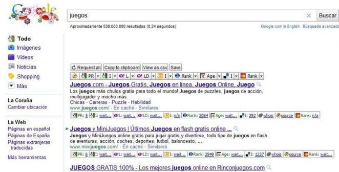 busqueda juegos en google