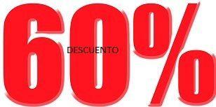 descuentos permanentes descuento del 60%