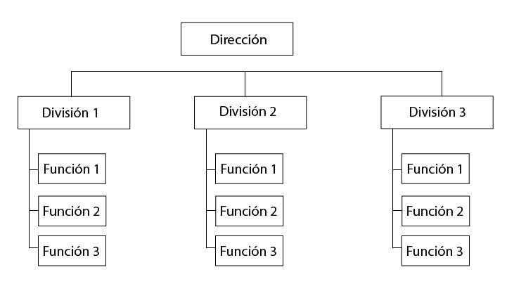 organigrama de empresa divisional