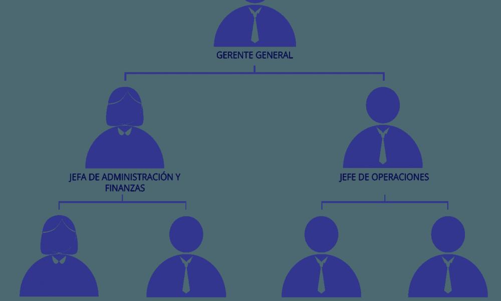 Organigrama de una empresa pequeña - Gestion.Org